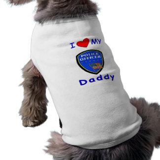 Camiseta Ame meu pai da polícia
