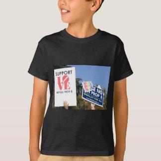 Camiseta Amor do apoio, não ódio - não no suporte 8