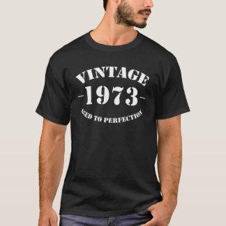 Camiseta Aniversário do vintage 1973 envelhecido à