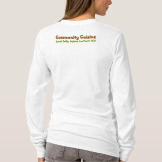 Camiseta Apoie sua culinária da comunidade