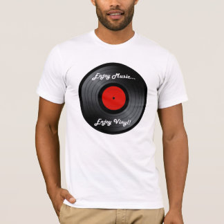 Camiseta Aprecie a música apreciam o vinil. álbum gravado
