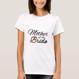 """Camiseta Arco-íris """"mãe da noiva """""""