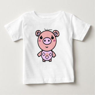 Camiseta arte cor-de-rosa do porco