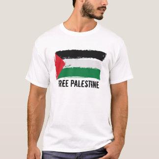 Camiseta Arte da escova da bandeira de Palestina -