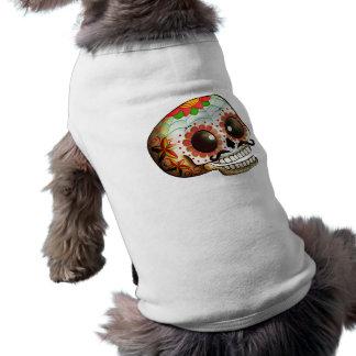 Camiseta Arte do crânio de Diâmetro de Los Muertos Açúcar
