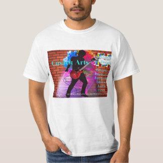 Camiseta Artes de Cusack do logotipo da estrela do rock