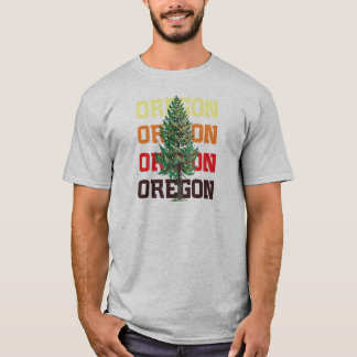 Camiseta árvore de oregon