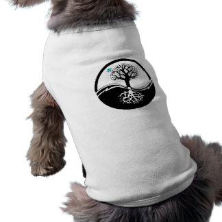 Camiseta Árvore de Yin Yang do preto & do branco da vida