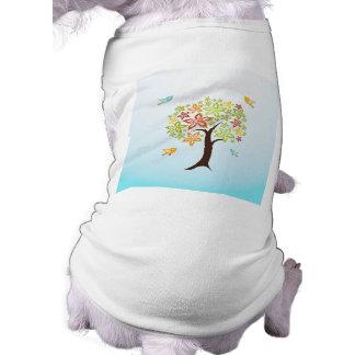 Camiseta Árvore e pássaros