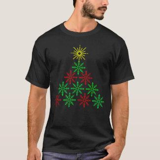 Camiseta Árvore moderna do floco de neve