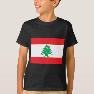 Camiseta Baixo custo! Bandeira de Líbano