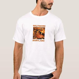 Camiseta Baltimore Maryland cozinhado Crabs o logotipo