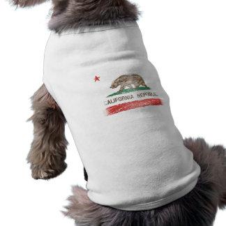 Camiseta Bandeira afligida da república de Califórnia