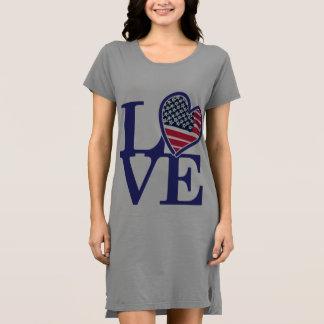 Camiseta Bandeira americana do coração dos EUA
