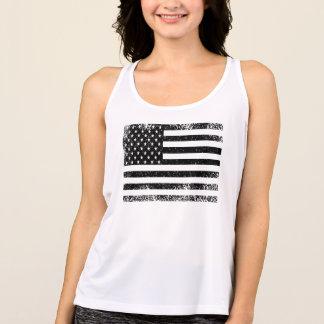 Camiseta Bandeira americana preto e branco afligida