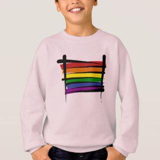 Camiseta Bandeira da escova do orgulho gay do arco-íris