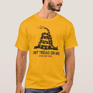 Camiseta Bandeira de Gadsden (ouro)