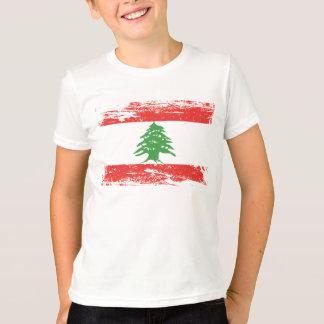 Camiseta Bandeira de Líbano do Grunge