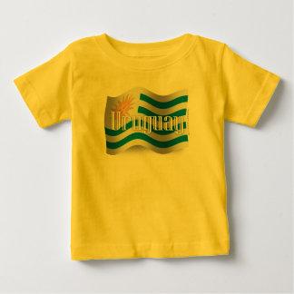 Camiseta Bandeira de ondulação de Uruguai
