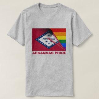 Camiseta Bandeira do arco-íris do orgulho LGBTQ de Arkansas
