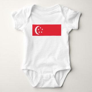 Camiseta Bandeira nacional do mundo de Singapore