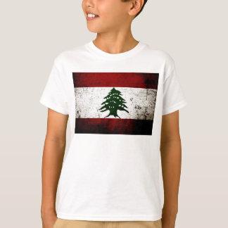 Camiseta Bandeira preta de Líbano do Grunge