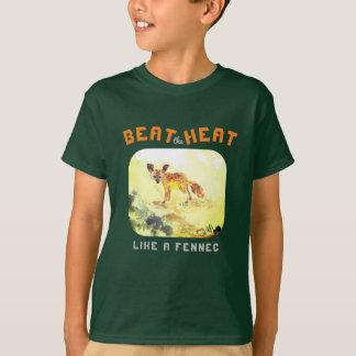Camiseta Bata o calor como um Fennec…