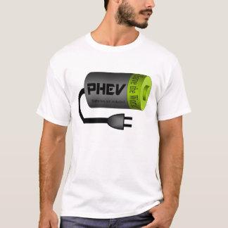 Camiseta Bateria superior verde e tomada de PHEV