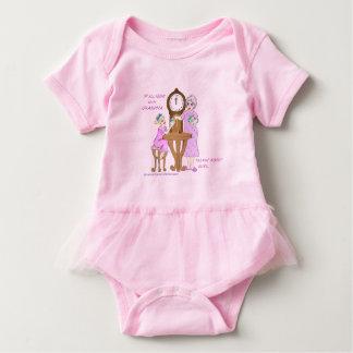 Camiseta Bebê americano Bodsuit da bailarina da avó