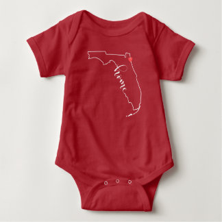 Camiseta Bebê Home Onsie de Florida Jacksonville