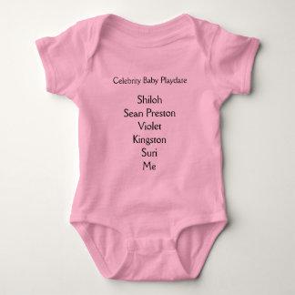 Camiseta Bebê Playdate da celebridade