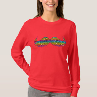 Camiseta Bigode do brilho do arco-íris