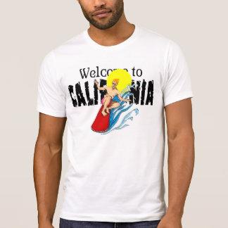 Camiseta Boa vinda ao T do branco do vintage dos homens do