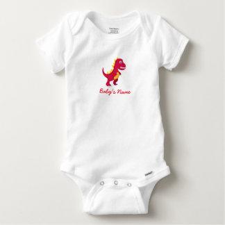 Camiseta Body Algodão Bebé Dinossauro