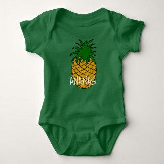 Camiseta Body em jersey para bebé Ananás