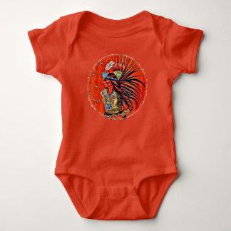 Camiseta Bodysuit asteca do bebê do nativo americano do