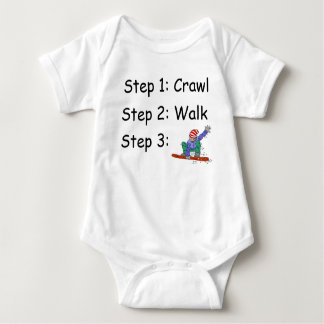 Camiseta Bodysuit do bebê do Snowboard do Snowboarder da