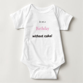 Camiseta Bolo de aniversário do bebê