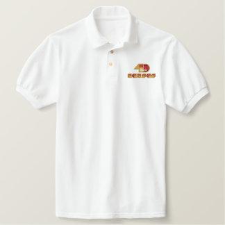 Camiseta Bordada Polo Logotipo de um aniversário de 40 anos