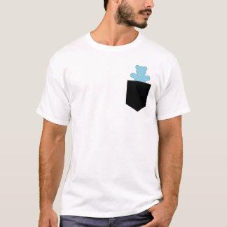Camiseta Caçador azul Cub da lontra do urso do bolso