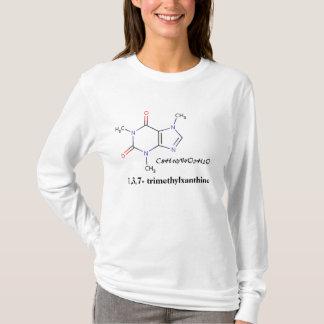 Camiseta Café, C8H10N4O2H2O, 1,3,7 - trimethylxanthine