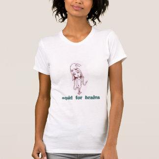 Camiseta calamar para cérebros