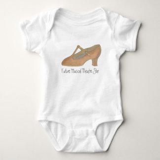 Camiseta Calçados futuros do caráter da dança da estrela do