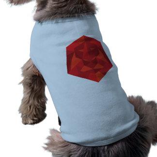 Camiseta Camisa geométrica do Doggy do leão