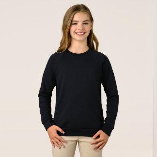 Camiseta Camisola americana do Raglan do roupa das meninas