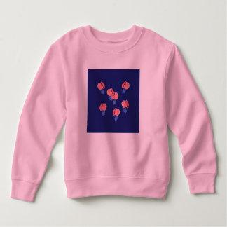 Camiseta Camisola da criança dos balões de ar