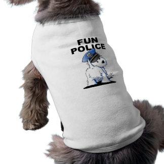 Camiseta Camisola de alças com nervuras do cão da POLÍCIA d