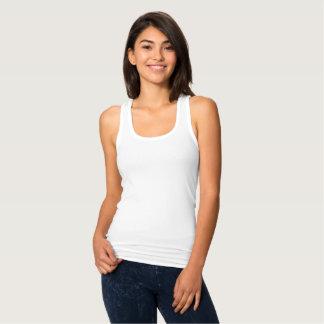Camiseta Camisola de alças magro de Racerback do ajustado