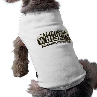Camiseta Campeão do bebendo do uísque de Califórnia