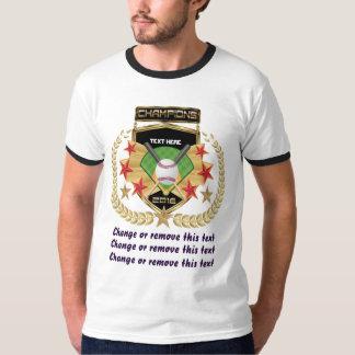Camiseta Campeão do softball Dianteiro-somente